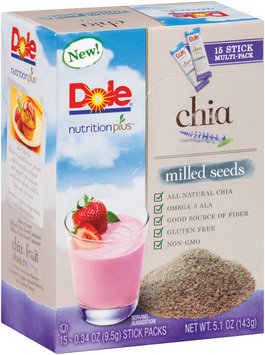Dole® Nutrition Plus™ Milled Seeds Chia .34 oz. 15 ct Box