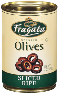 Fragata Spanish Sliced Ripe Olives 7 Oz Can