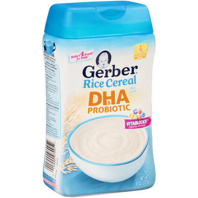 Gerber® DHA & Probiotic Rice Cereal 8 oz. Canister
