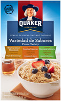Quaker Flavor Variety International Instant Oatmeal 397G Box