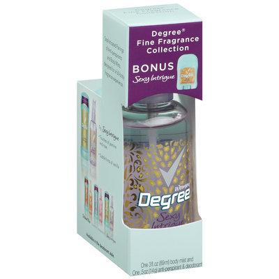 Degree Body Mist Fine Fragrance Collection Sexy Intrigue & Bonus Deodorant Degree Women 3 Fl Oz Box