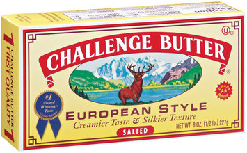 Challenge European Style Salted Butter 8 Oz Box