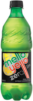Mello Yello Zero Citrus Soda 20 oz Plastic Bottle