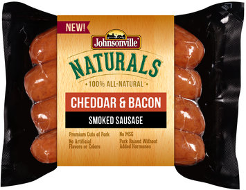 Johnsonville Naturals Cheddar & Bacon Smoked Sausage 12oz pkg (102539)