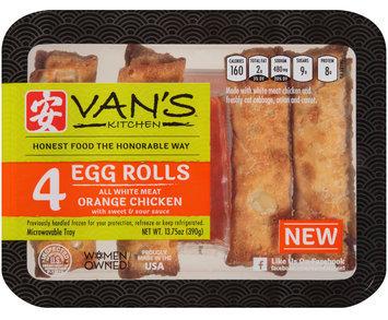 Van's™ Kitchen All White Meat Orange Chicken Egg Rolls with Sweet & Sour Sauce