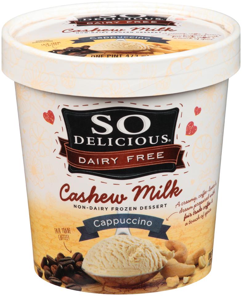 So Delicious® Cashew Milk Cappuccino Non-Dairy Frozen Dessert 1 pt. Tub