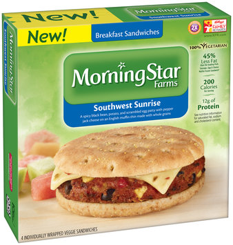 MorningStar Farms® Southwest Sunrise Breakfast Sandwiches 13.4 oz. Box