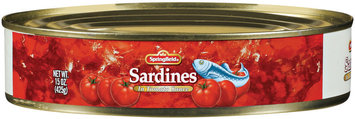 Springfield In Tomato Sauce Sardines 15 Oz Can