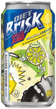 Brisk® Sugar Free Lemonade Flavored Drink 12 fl. oz. Can