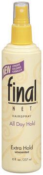 Final Net Extra Hold Hairspray 8 Oz Spray Bottle