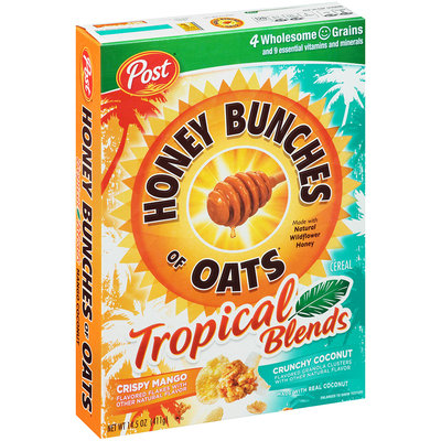 Honey Bunches of Oats Tropical Blends Mango Coconut Cereal