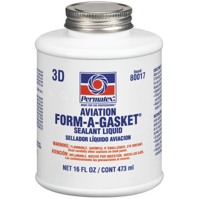 Permatex® Form-A-Gasket® 80017 Aviation No. 3 Sealant 16 Oz Brush-Top Bottle