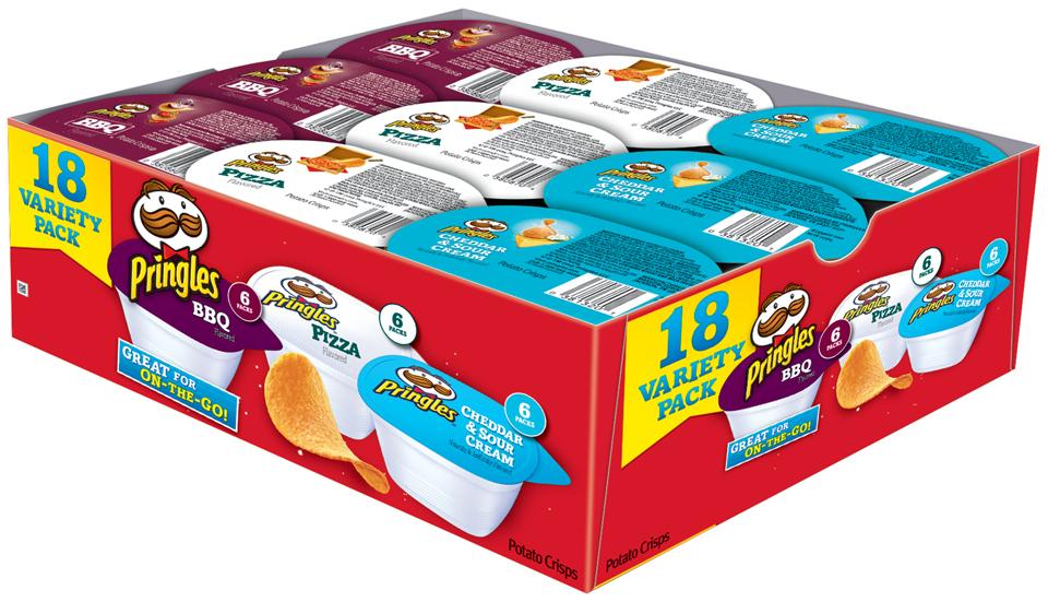 Pringles® BBQ/Pizza/Cheddar & Sour Cream Potato Crisps Variety Pack 18 ct Box
