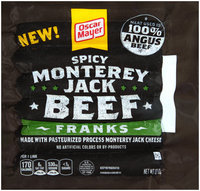 Oscar Mayer Spicy Monterey Jack Beef Franks 6 ct Pack