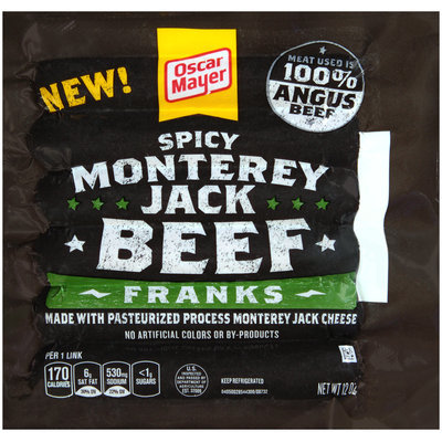 Oscar Mayer Spicy Monterey Jack Beef Franks 6 ct Pack