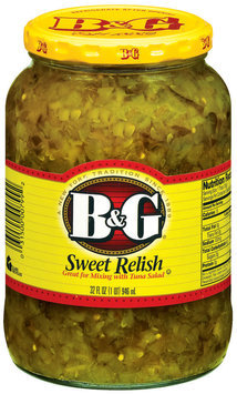 B&G Sweet Relish 32 Oz Jar