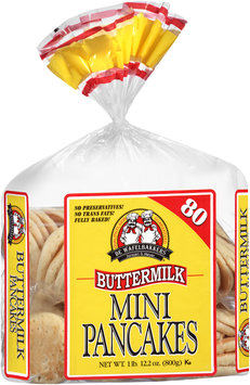 De Wafelbakkers Janssen & Meyer® Mini Buttermilk Pancakes 80 ct Bag