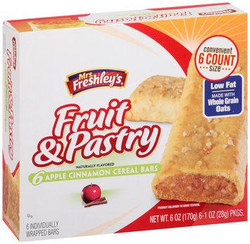 Mrs. Freshley's® Fruit & Pastry Apple Cinnamon Cereal Bars 6-1 oz. Packs
