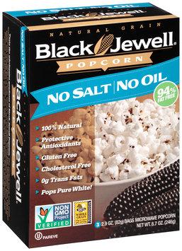 Black Jewell® No Salt No Oil Microwave Popcorn 3-2.9 oz. Bags