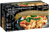 Rice Gourmet & Vegetables In Sauce On Bed of Rice 6 Bowls Grilled Chicken Teriyaki 75 Oz Box