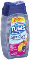 Tums Extra Strength 750 Tropical Fruit Smoothies Antacid Calcium Supplement 72 Ct Bottle