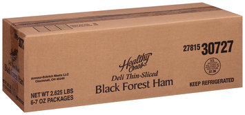 Healthy Ones® Deli Thin-Sliced Black Forest Ham 7 oz. Tub