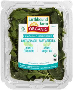 Earthbound Farm® Organic Half & Half Baby Spinach/Baby Arugula 5 oz. Tray