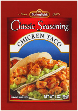 Springfield® Chicken Taco Classic Seasoning 1 oz Packet