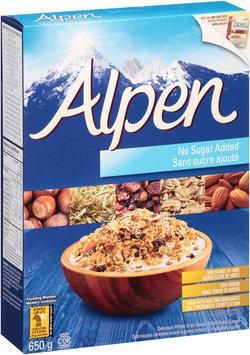 Alpen No Sugar Added Muesli Cereal 650g Box Sold in Canada