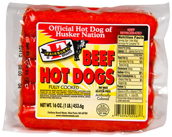 Fairbury Brand® Beef Hot Dogs 16 oz. Package