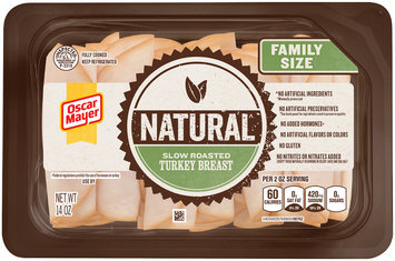 Oscar Mayer Natural Slow Roasted Turkey Breast Cold Cuts 14 oz. Tray