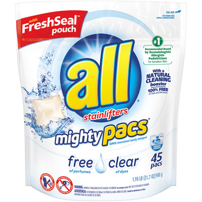 All® Free Clear Mighty Pacs® Laundry Detergent 31.7 oz. Pack