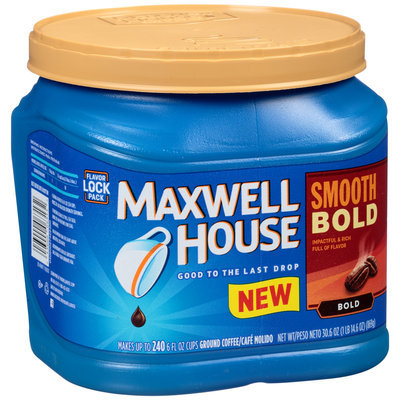 Maxwell House Smooth Bold Ground Coffee 30.6 oz. Canister