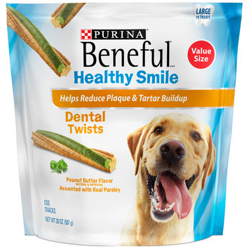 Purina Beneful Healthy Smile Twists Large Dental Dog Snacks 18 ct Pouch