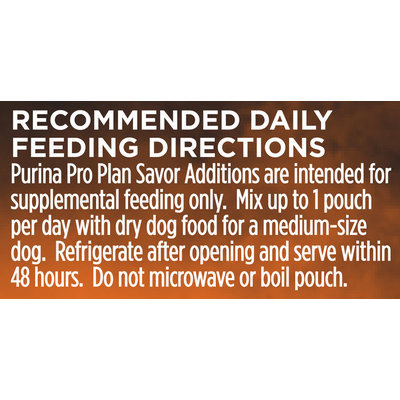 Purina Pro Plan Savor Additions Beef & Carrot Puree Meal Enhancement for Dogs 4.5 oz. Pouch
