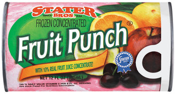 Stater Bros. Fruit Punch Frozen Concentrate Juice 12 Oz Can