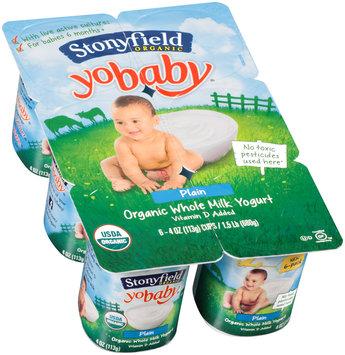 Stonyfield Organic™ YoBaby® Plain Yogurt 6-4 oz. Cups