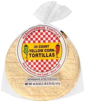 Albuquerque Tortilla™ Yellow Corn Tortillas 30 ct Bag