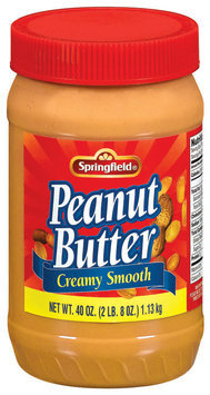 Springfield Creamy Smooth Peanut Butter 40 Oz Jar