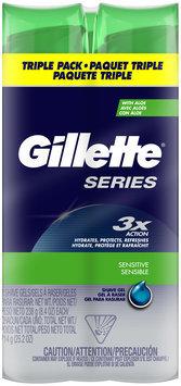 Gillette Series Shave Gel Triple Pack, 25.2oz