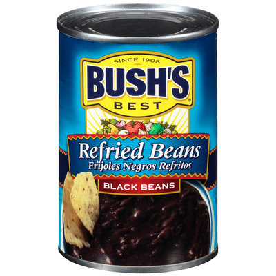 Bush's Best® Refried Black Beans 16 oz. Can