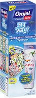 Orajel® Kids My Way!® Fruit Splash Anticavity Fluoride Toothpaste 4.2 oz. Box