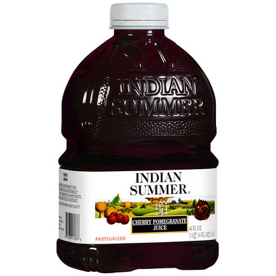 Indian Summer 100% Cherry Pomegranate Juice 46 fl oz Plastic Bottle