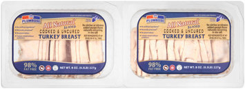 Plumrose® All Natural Sliced Cooked & Uncured Turkey Breast 2-8 oz. Packs