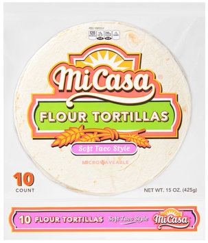 Mi Casa® Soft Taco Style Flour Tortillas 10 ct Bag