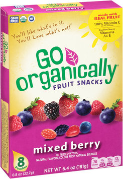 Go Organically® Mixed Berry Fruit Snacks 8 ct Box