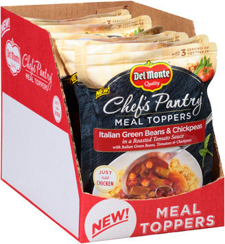 Del Monte® Chef's Pantry™ Italian Green Beans & Chickpeas Meal Toppers 8-14 oz. Pouches
