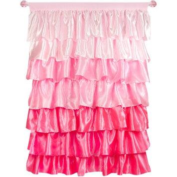 Generic Tadpoles Pink Ruffled Satin Curtain Panel