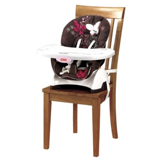 Fisher-Price SpaceSaver HighChair - Mocha Butterfly