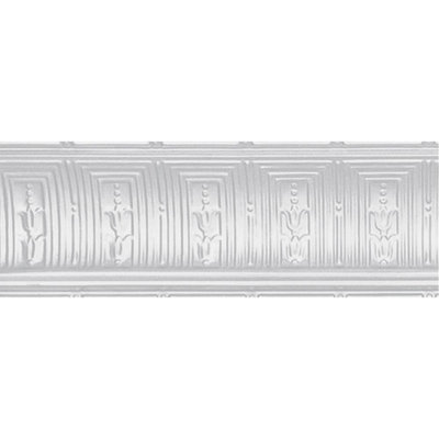 Cornice Moulding: Shanko Building Materials 8-3/4 in. x 4 ft. x 8-3/4 in. Powder-Coated White Nail-up/Direct Application Cornice (6-Pack) PW808-c